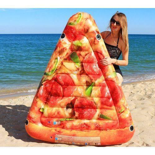 boia piscina pedaço de pizza