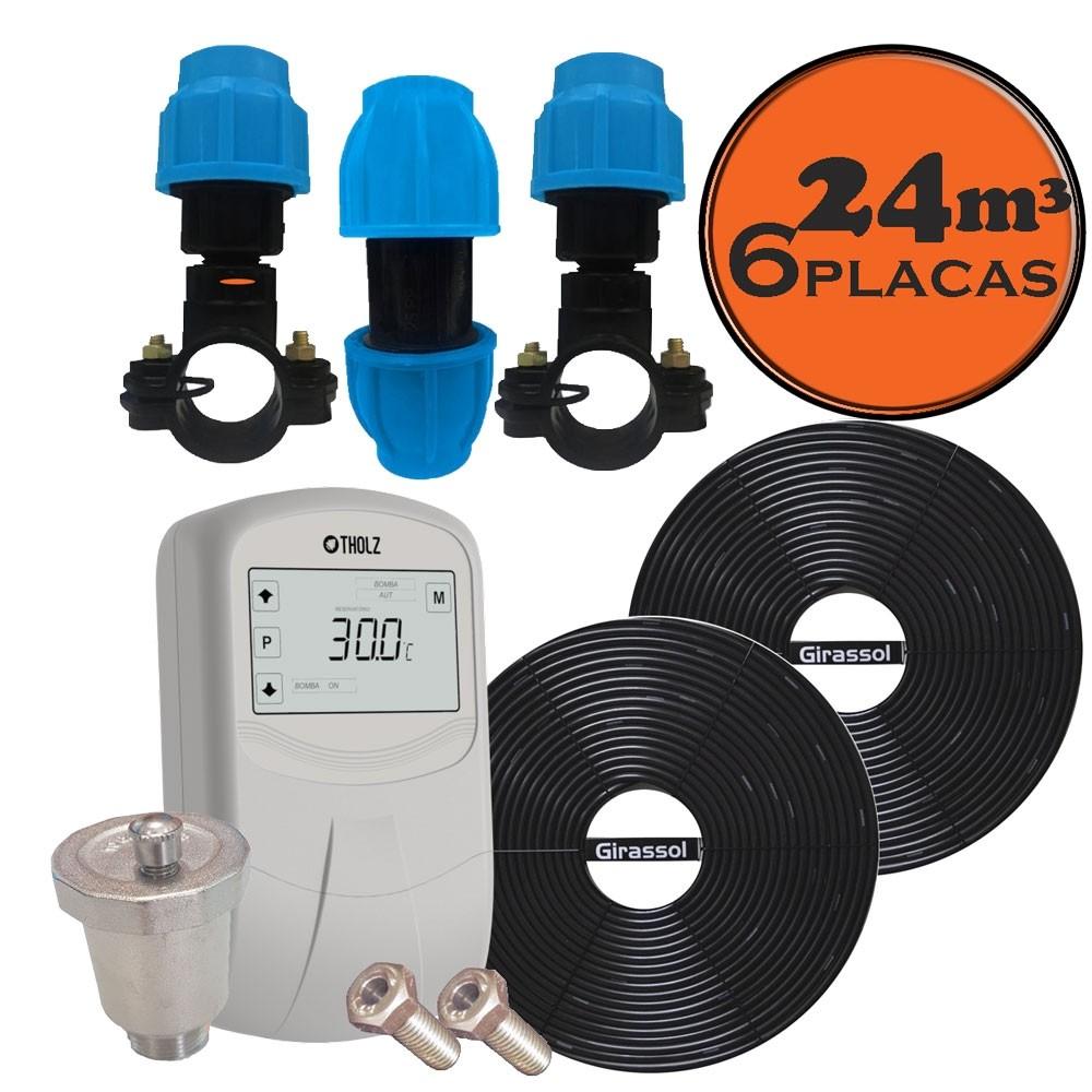 kit aquecedor solar para piscina 24 m³