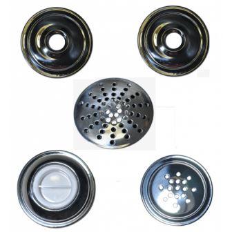 kit dispositivos para piscina de alvenaria em inox