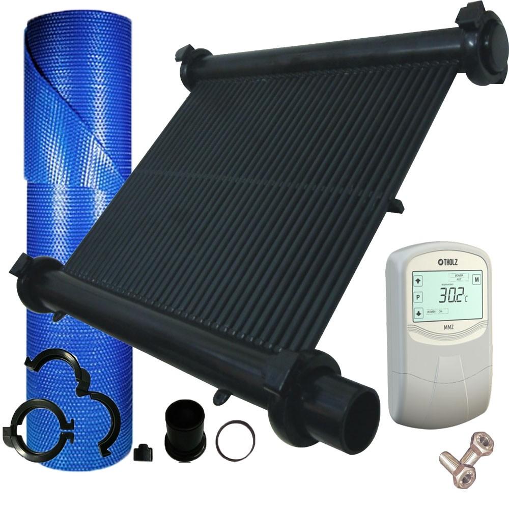 kit aquecedor solar de piscina até 25m
