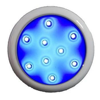 led para piscina azul