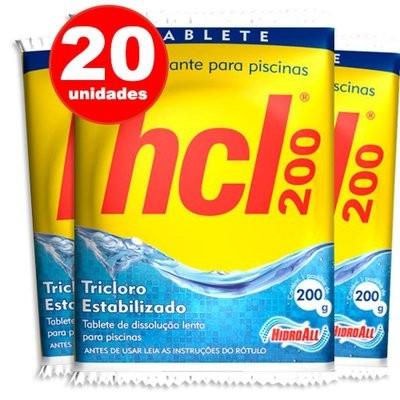 kit pastilha de cloro para piscina