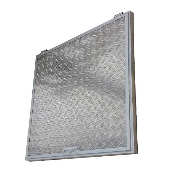 tampa para casa de maquinas em aluminio 1x1m