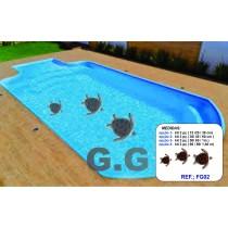 adesivo para fundo de piscina kit com 3 tartaruga