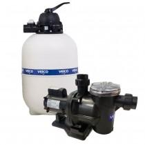 filtro e motor para piscina veico v40