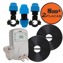 kit aquecedor solar para piscina até 8 m³
