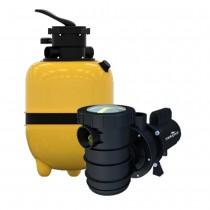 kit filtro e motor piscina max15