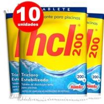 kit 10 pastilha de cloro para piscina