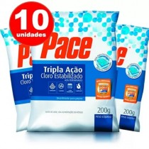 pastilha de cloro para piscina hth 10unid