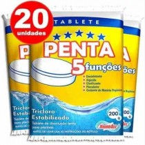 kit pastilha de cloro para piscina penta 20unid