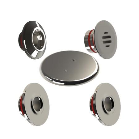 Kit Dispositivos para Piscina de alvenaria inox 316