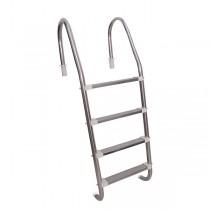 Escada em Aço Inox com 4 Degraus em Inox