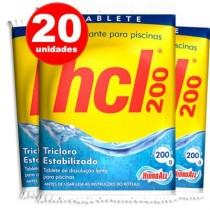 Pastilha de Cloro Hcl 200 Gr (20 Pastilhas)